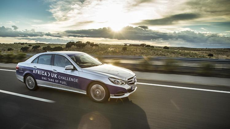 E -Class travels from Africa to the UK on one tank of fuel