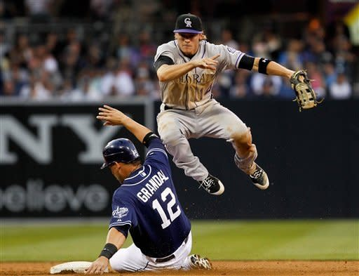 Rockies snap Padres' streak with 8-6 win in 12