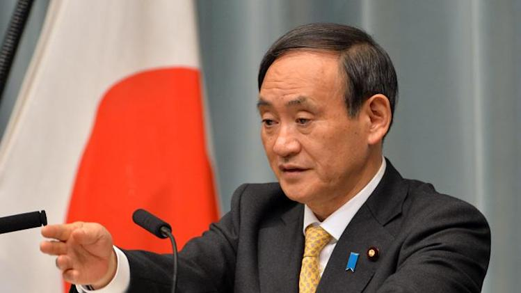 Japan's Chief Cabinet Secretary Yoshihide Suga, pictured during a