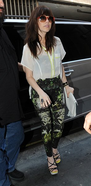 Carly arriving at BBC Radio 1 this September