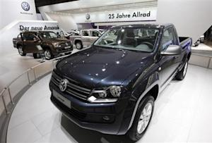 New VW Amarok is displayed at IAA commercial vehicles trade fair in Hanover