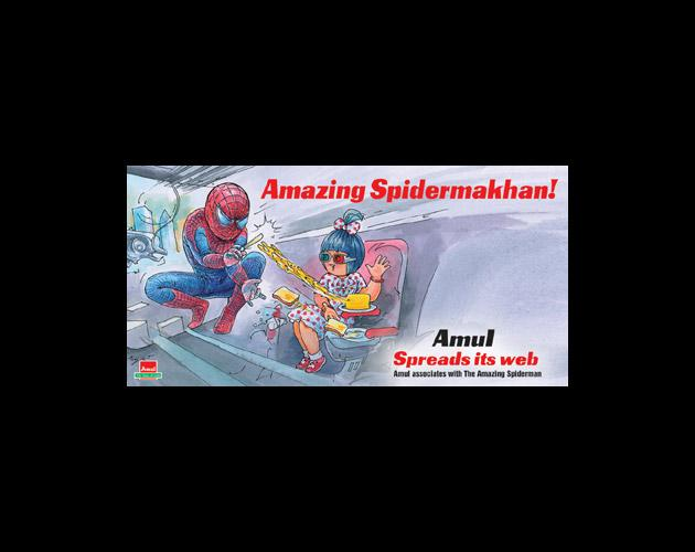Amul Girl pays tribute to Dara Singh
