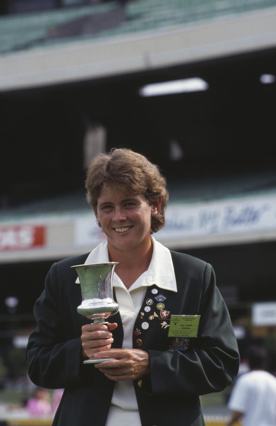 Lyn Larsen With Trophy