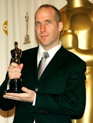 Winner of Best Writing, Screenplay Written Directly for the Screen for &#39;Little Miss Sunshine&#39; Michael Arndt poses in the press room during the 79th Annual Academy Awards at the Kodak Theatre on February 25, 2007 -- Getty Images