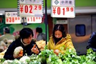 &lt;p&gt;Shoppers buy vegetables at a supermarket in Hefei, east China&#39;s Anhui province. The Rome-based FAO&#39;s Food Price Index averaged 212 points in 2012, a drop of 7.0 percent owing largely to falls in the prices of sugar, dairy products and oil.&lt;/p&gt;