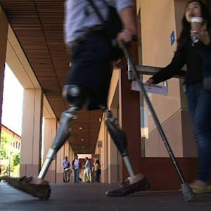 Stanford's amputated vet studying the business of employing wounded soldiers