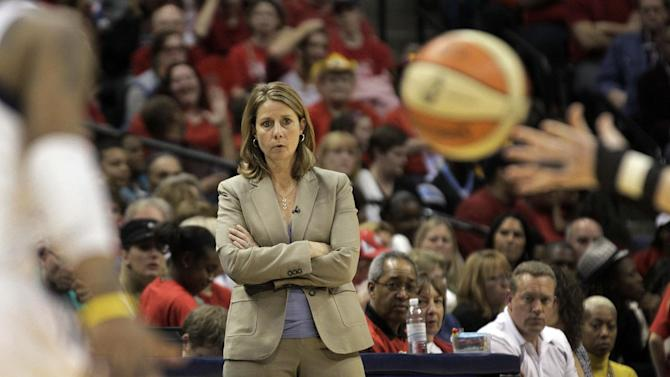 innesota Lynx head coach Cheryl Reeve watches as her team plays the Indiana Fever in the second half of Game 3 of the WNBA basketball Finals, Friday, Oct. 19, 2012, in Indianapolis. The Fever won 76-59. (AP Photo/AJ Mast)