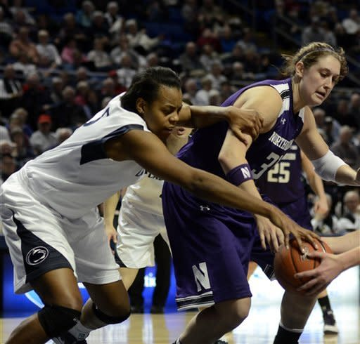 No. 9 Penn St women beat Northwestern 73-69