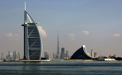 <p>Dubai's three most prominent architectural icons, Burj an-Arab Hotel (L), Jumirah Hotel (R) and Burj Dubai (C). Dubai is back in the business of unveiling mega projects, three years after a severe financial crisis crippled its booming property sector, but doubts still linger over finance and feasibility.</p>