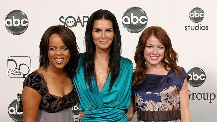 Paula Newsome, Angie Harmon and [ytvperson id=346861]Aubrey Dollar of Women's Murder Club arrive at the ABC Summer Press Tour Party.