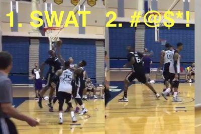 DeMarcus Cousins is swatting people and cursing out refs ... at training camp!