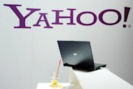 "The Yahoo logo is displayed at the trade fair for digital marketing OMD in Dusseldorf, 2005. Struggling Internet pioneer Yahoo! has admitted to making an ""inadvertent error"" after an activist shareholder pointed out that its CEO's online bio wrongly said he had a degree in computer science"