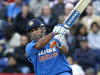 India's Mahendra Singh Dhoni plays a shot for six off the bowling of England's Tim Bresnan in their One Day International cricket match, at Sophia Gardens cricket ground in Cardiff, Wales, Friday, Sept. 16, 2011. (AP Photo/Kirsty Wigglesworth)
