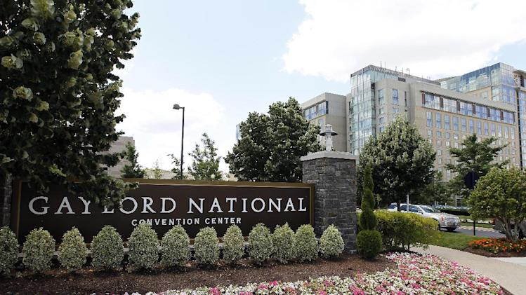 FILE - This June 15, 2012 file photo shows the Gaylord National convention center at the National Harbor in Oxon Hill, Md., the propose site for a potential casino near the nation's capital. After all the economy-focused campaign talk, voters in some states will get a chance on Election Day to sound off on intriguing topics that the presidential rivals ignored, including expanded gaming in Maryland, death-penalty repeal, marijuana legalization and assisted suicide.(AP Photo/Alex Brandon, File)