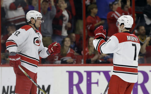Eric Staal's goal, 2 assists lift Canes over Penguins, 5-2