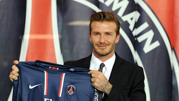 David Beckham is on the bench for PSG