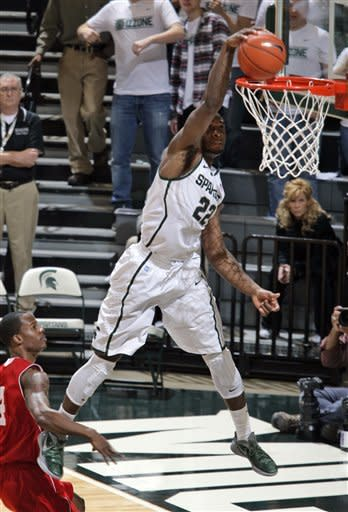 No. 13 Michigan St romps past Nicholls St 84-39
