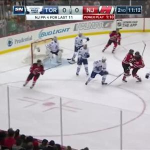 Jonathan Bernier Save on Martin Havlat (08:50/2nd)
