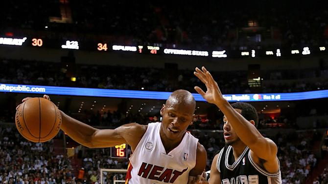 San Antonio Spurs v Miami Heat