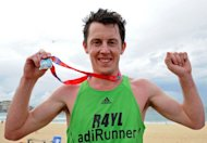 Australian Liam Adams (pictured in 2011) won Sydney's biggest road running race for the second consecutive year on Sunday despite blustery conditions, finishing the 14-kilometre (8.7 mile) City2Surf in just over 41 minutes