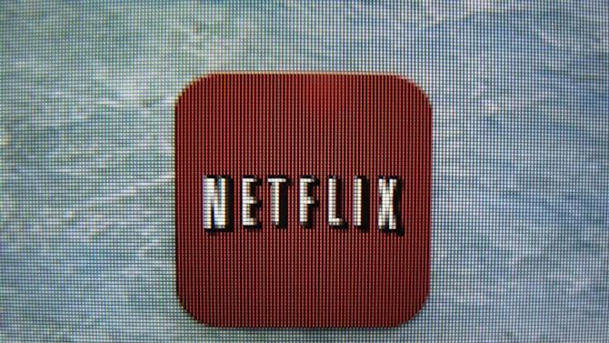 A Netflix App icon is shown on an ipad in Encinitas