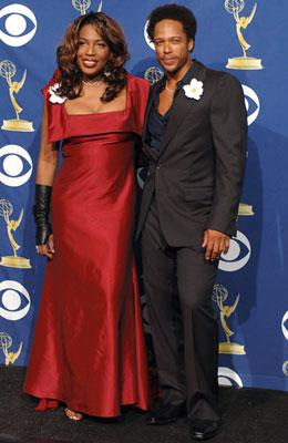 Performers Macy Gray and Gary Dourdan 57th Annual Emmy Awards Press Room - 9/18/2005