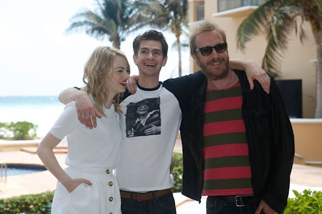 Emma Stone, Andrew Garfield and Rhys Ifans promote 'The Amazing Spiderman' in Mexico