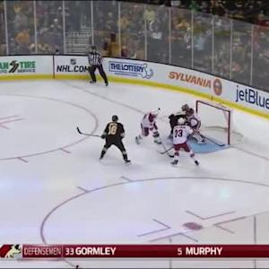 Mike Smith Save on Patrice Bergeron (00:19/1st)