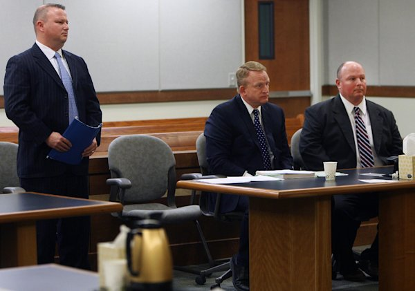 during a court hearing Tuesday, March 18, 2014, for Hall and his co