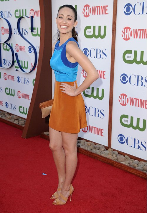 "Emmy Rossum of ""Shameless"" attends the CBS, The CW, and Showtime 2011 Summer TCA Party at The Pagoda on August 3, 2011 in Beverly Hills, California."
