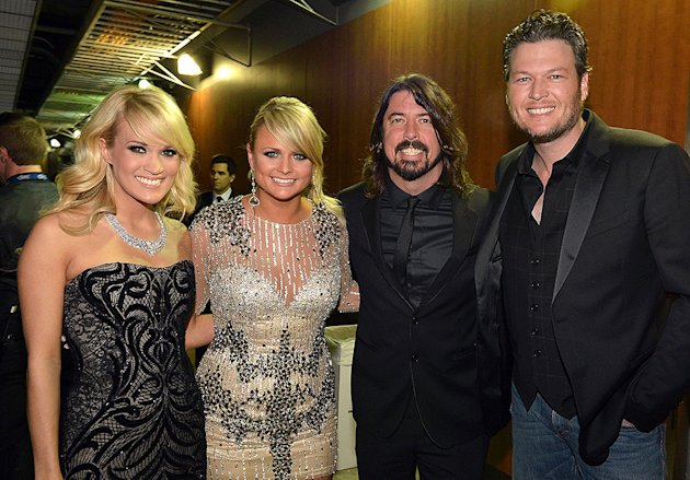 Carrie Underwood, Miranda Lambert, Dave GRohl, Blake Shelton