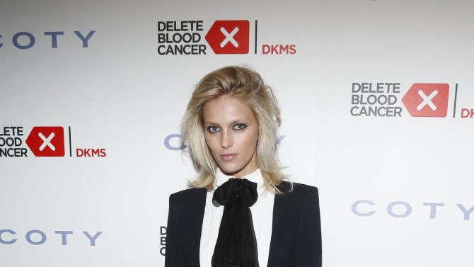 IMAGE DISTRIBUTED FOR COTY - Anja Rubik steps out to support the fight against leukemia and other blood-related cancers at the seventh annual Delete Blood Cancer Gala, presented with support from founding corporate sponsor Coty Inc., at Cipriani Wall Street, Wednesday, May 1, 2013 in New York. The event raised $3.7 million to support the fight against leukemia and other blood-related cancers. (Photo by Jason DeCrow/Invision for Coty/AP Images)