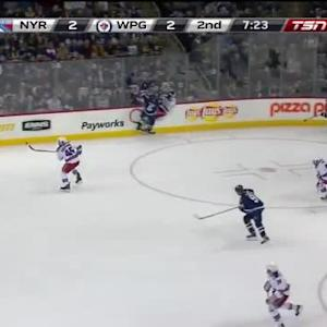 Mark Stuart Hit on Tanner Glass (12:50/2nd)