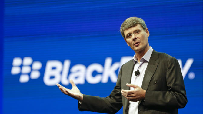 BlackBerry abandons bid to sell itself, CEO out