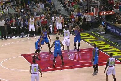 Paul Millsap puts Russell Westbrook in the spin cycle, finishes with a finger roll