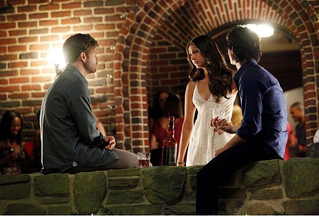 &quot;THE BIRTHDAY &quot;--LtoR: Matt Davis as Alaric, Nina Dobrev as Elena, and Ian Somerhalder as Damon on THE VAMPIRE DIARIES on The CW. Photo: Quantrell D. Colbert/The CW 2011 The CW Network. All Rights Re