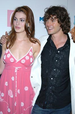 Anne Hathaway and Hugh Dancy at the New York premiere of Miramax's Ella Enchanted