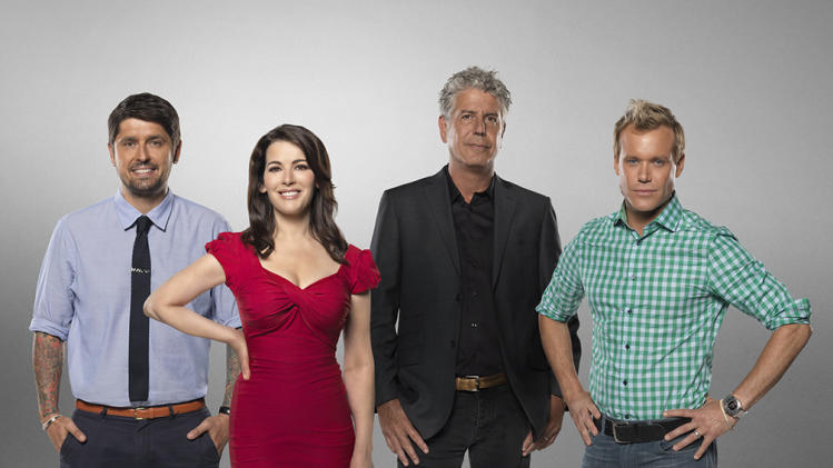"""The Taste"" -- LUDO LEFEBVRE, NIGELLA LAWSON, ANTHONY BOURDAIN, BRIAN MALARKEY"