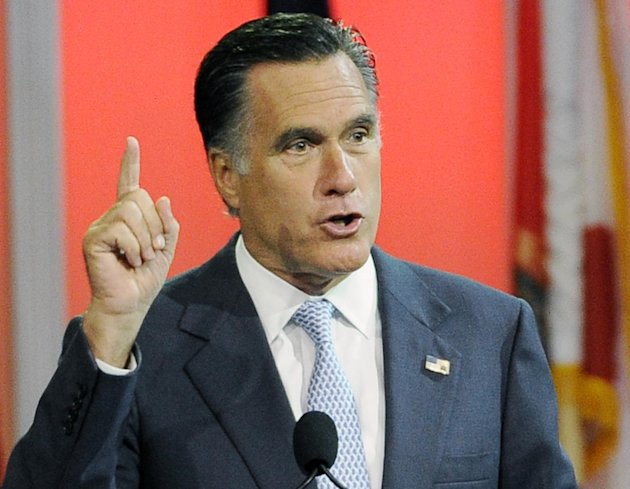 FILE - In this July 11, 2012 file photo, Republican presidential candidate, former Massachusetts Gov. Mitt Romney speaks in Houston. (AP Photo/Pat Sullivan, File)