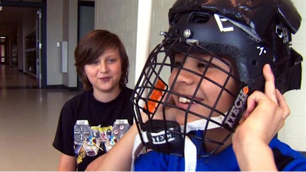Kids invent helmet to stop concussions