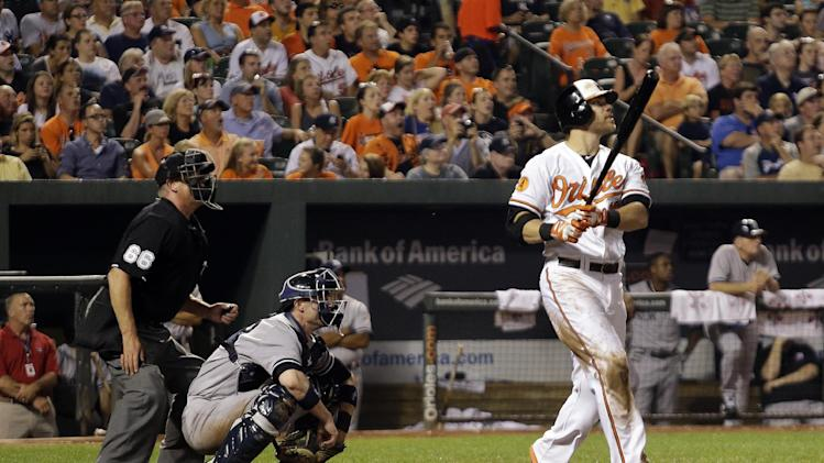 Orioles slugger Davis hits 50th HR, ties team mark