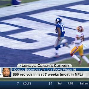Lenovo Coach's Corner: Can New York Giants wide receiver Odell Beckham continue to dominate?