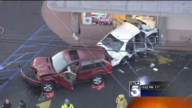 One Dead After Two Cars Collide and Crash into Doughnut Shop in Gardena