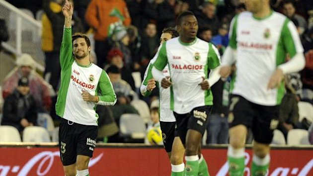 Adrian Gonzalez of Racing Santander, who has joined Ray Vallecano