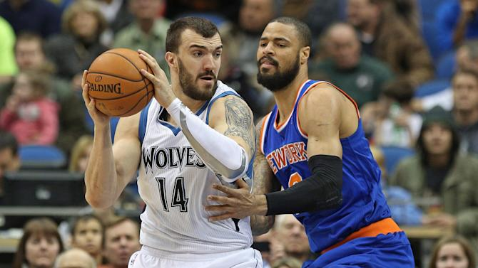 NBA: New York Knicks at Minnesota Timberwolves