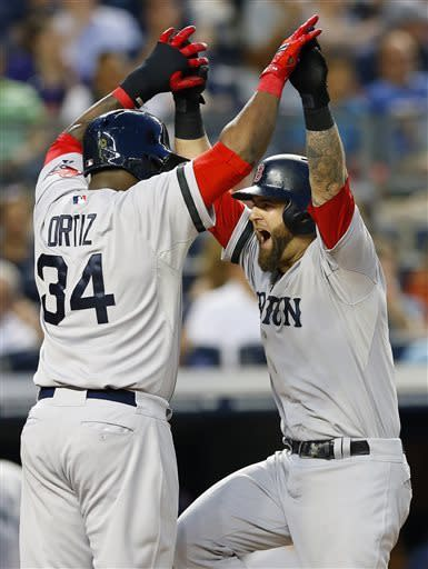 Napoli's slam leads Doubront, Red Sox rout Yankees