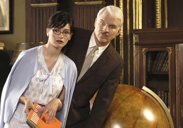 Emily Mortimer and Steve Martin in MGM/Columbia Pictures' The Pink Panther