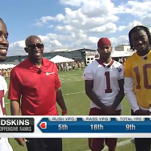 Deion Sanders holds court with Washington Redskins' playmakers