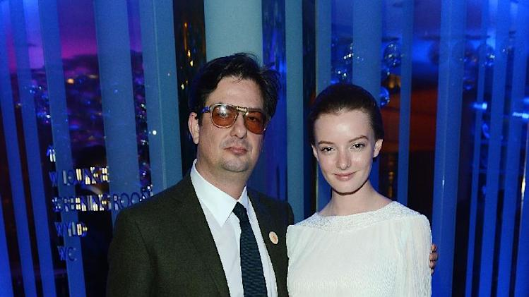Actress Dakota Blue Richards and director Roman Coppola seen at The Premiere of Intel & W Hotels' Four Stories on Tuesday, Nov. 27, 2012, W Hotel, London. (Photo by Jon Furniss/Invision for Intel/AP Images)