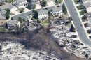 Some of the hundreds of totally destroyed homes are seen in the aftermath of the Waldo Canyon fire in Colorado Springs